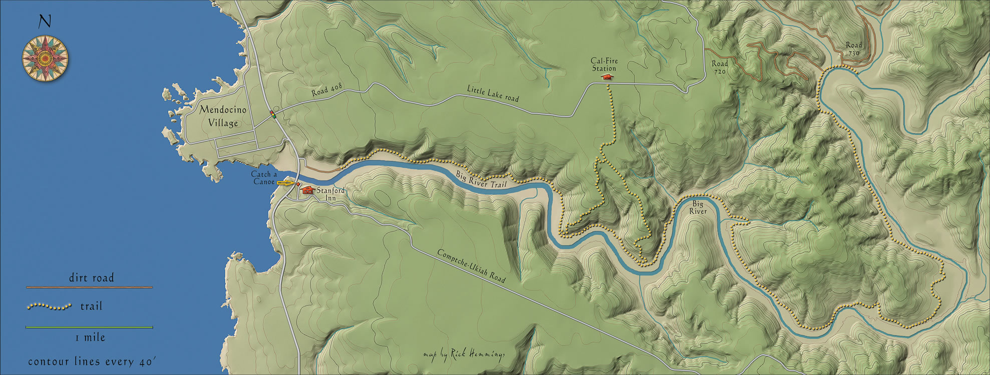 big river mendocino terrain map