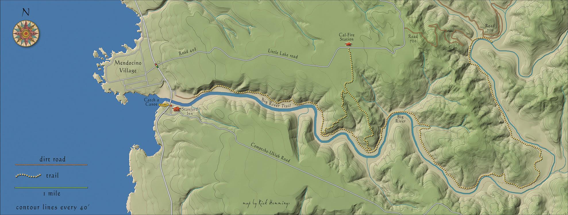 big river mendocino terrain map