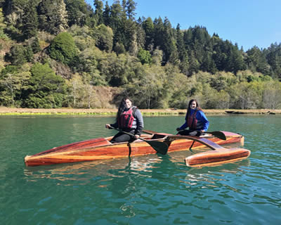catch a canoe mendocino redwood outriggers