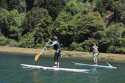 stand up paddle board big river mendocino