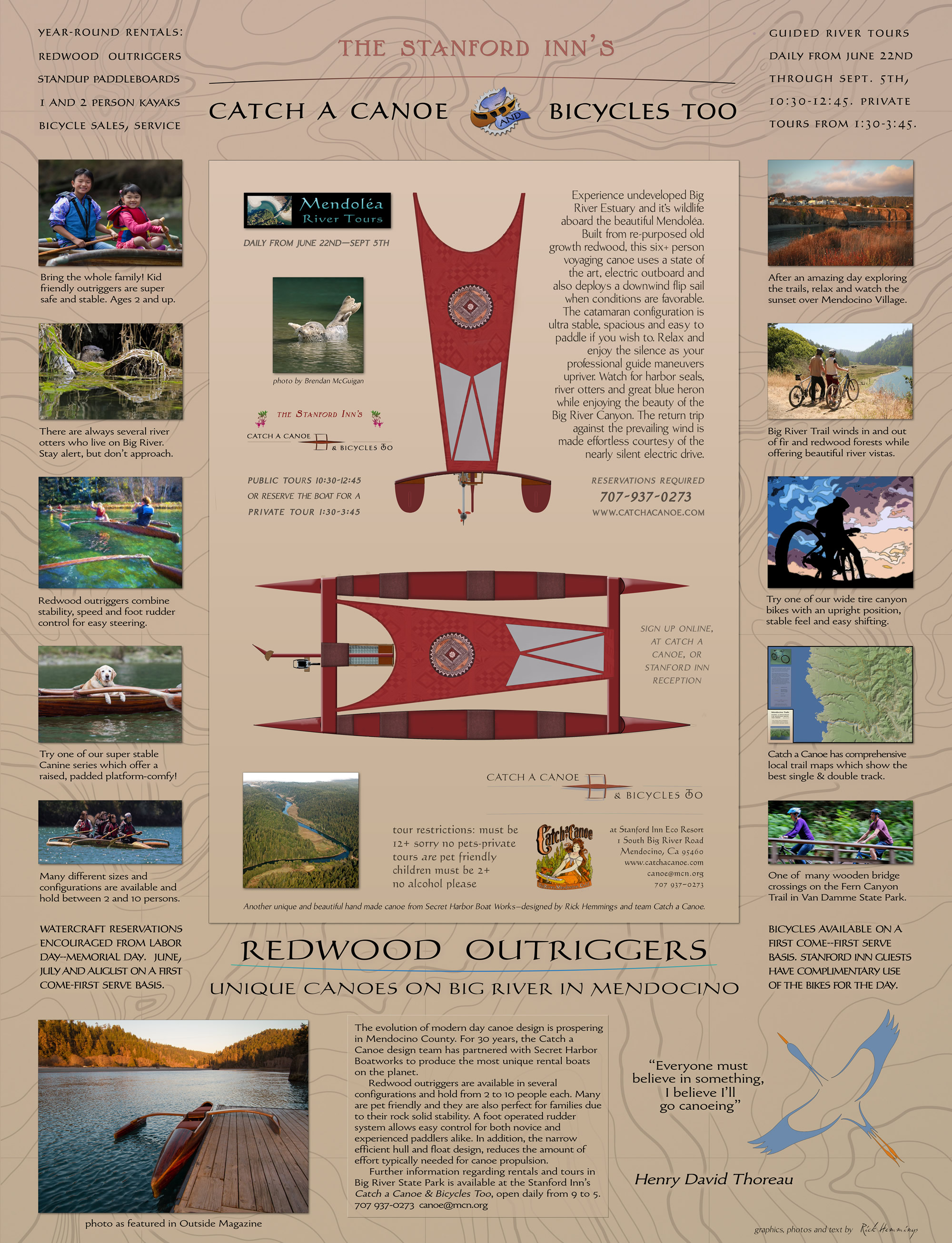 guided tours on big river mendocino by catch a canoe at the stanford inn eco resort