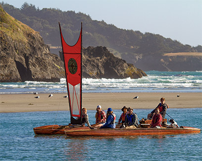 mendocino - take a guided tour of big river with catch a canoe guides